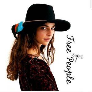 NWOT Free People Marlow wool fedora rancher hat